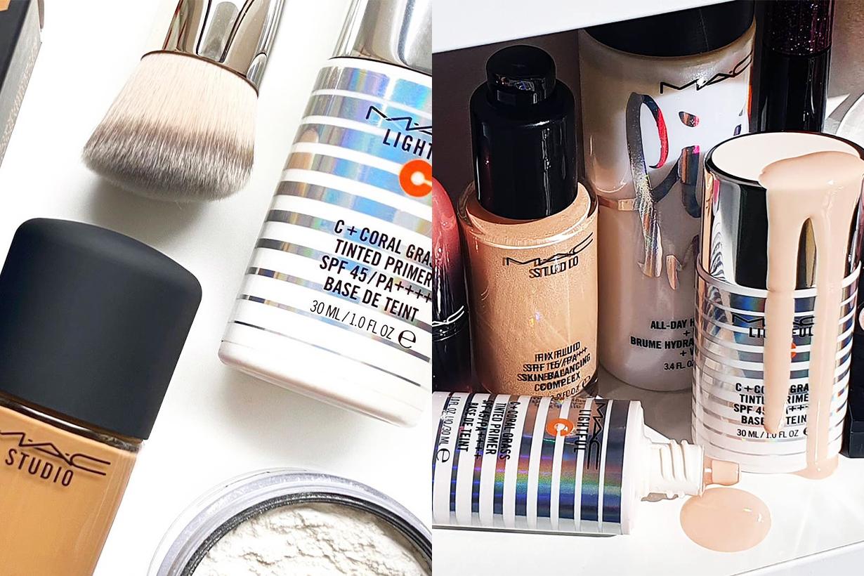 M.A.C C+ Coral Grass Tinted Primer SPF 45/PA++++ Base De Teint Base Makeup Product Cosmetics Korean Girls