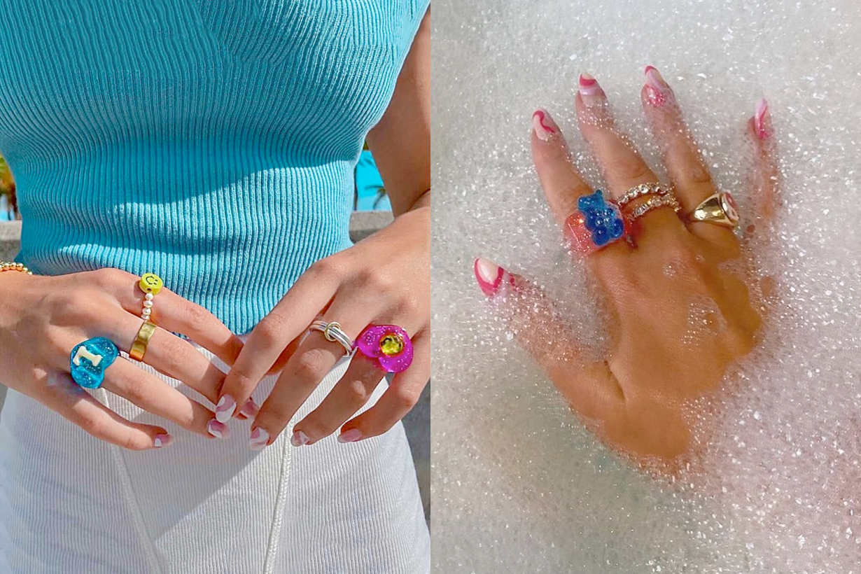 resin rings accessories 90s style summer