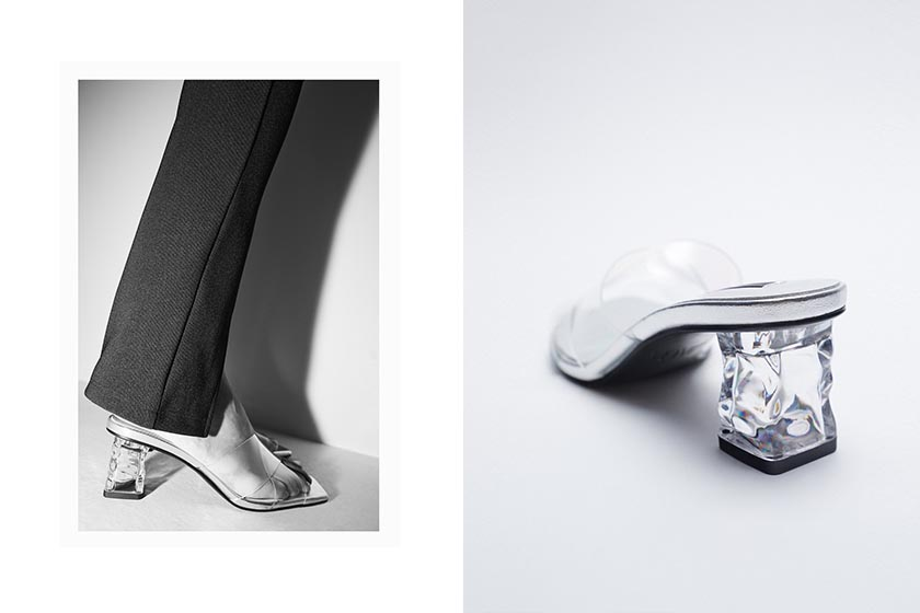 zara mules heels 2021ss shoes