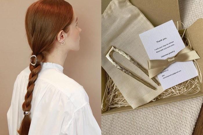 來自日本的小眾髮飾,極簡流線型讓女生隨性之餘也很古典!