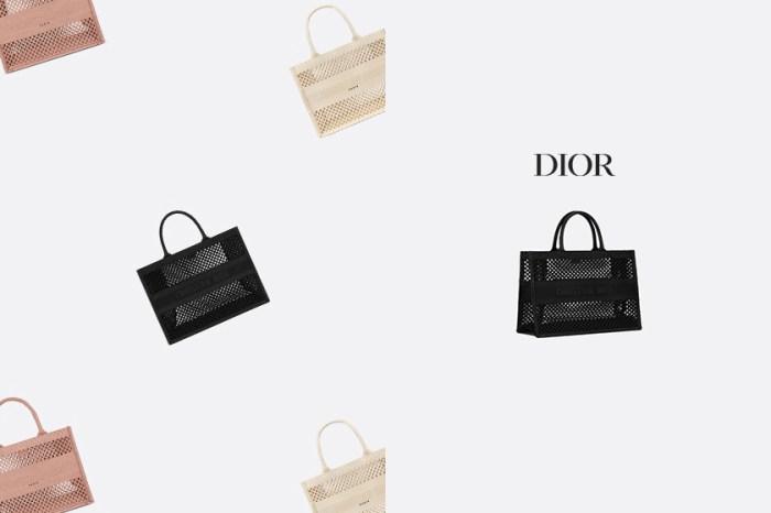 超可愛網眼:Dior 人氣最高的 Book Tote,新推出精緻迷你版!