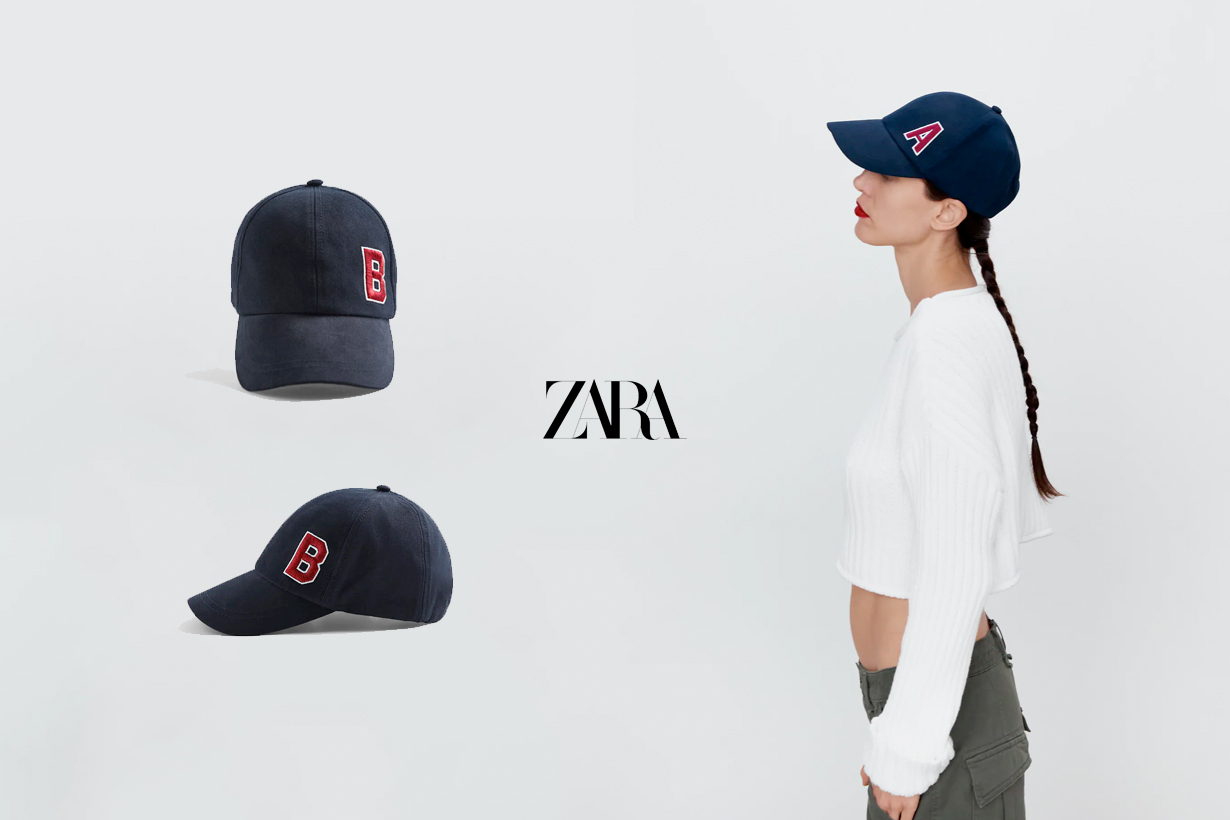 zara Alphabet cap 2021 new out of stock