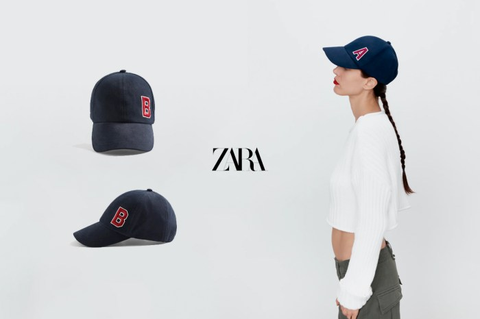 復古耐看款:Zara 新的字母棒球帽,斷貨速度驚人!