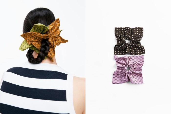 假如你喜歡 Scrunchie 這髮飾的話,絕對不能錯過 Zara 新推出的這款!