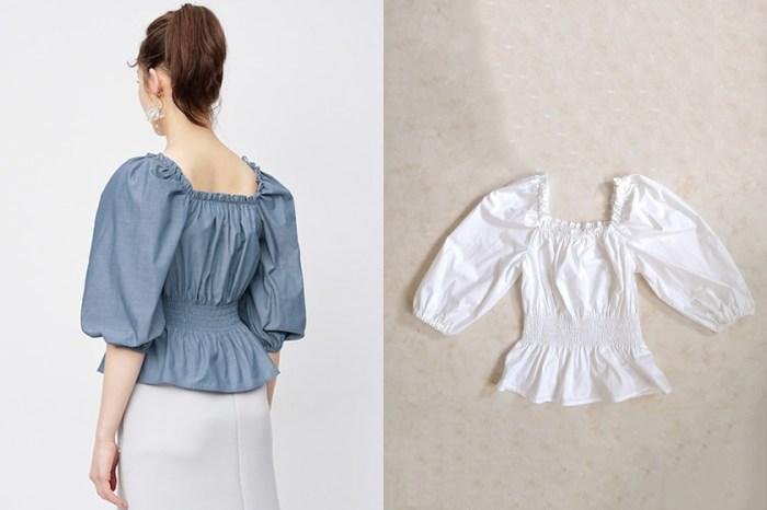 方領設計+鬆緊縮腰,哪一件法式澎袖上衣竟然賣到缺貨?