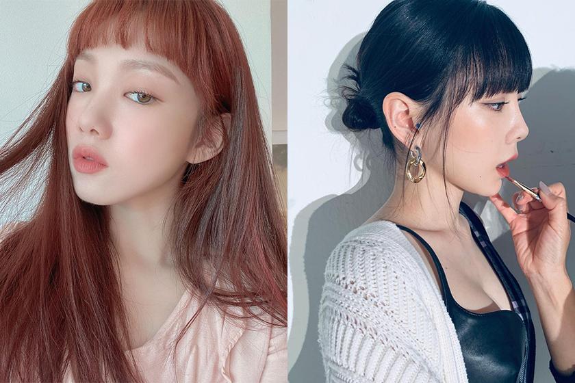 Korean Star Bang Hairstyles 2021 spring
