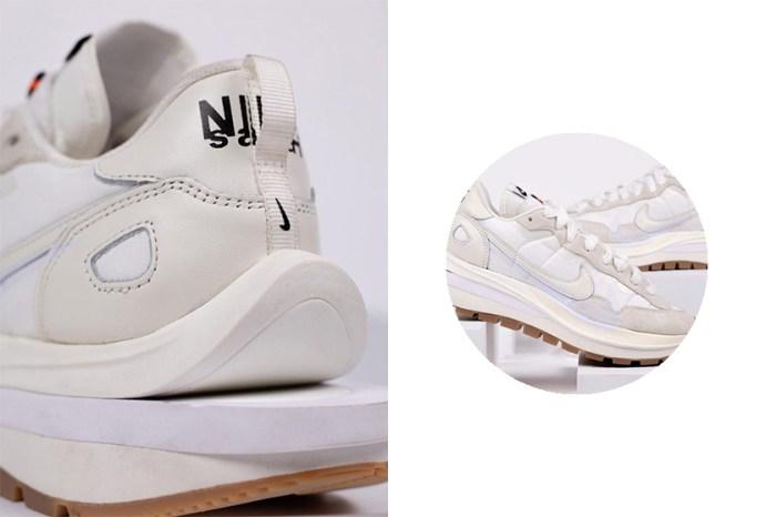 已經等不及:最惹火的 sacai x Nike Vaporwaffle 極簡白配色,實鞋上腳照再度曝光!