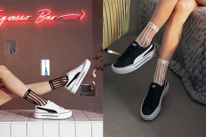 韓國女生也搶著入手:PUMA KAIA Platform 鋸齒厚底波鞋,增高+顯瘦一次達成!