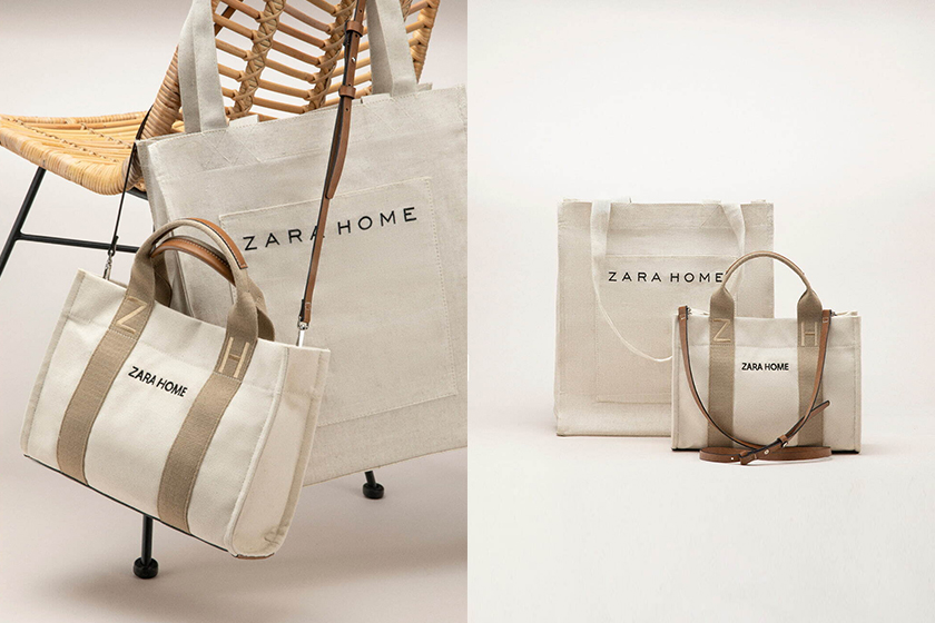Zara Home Japan 2 way Tote Bag