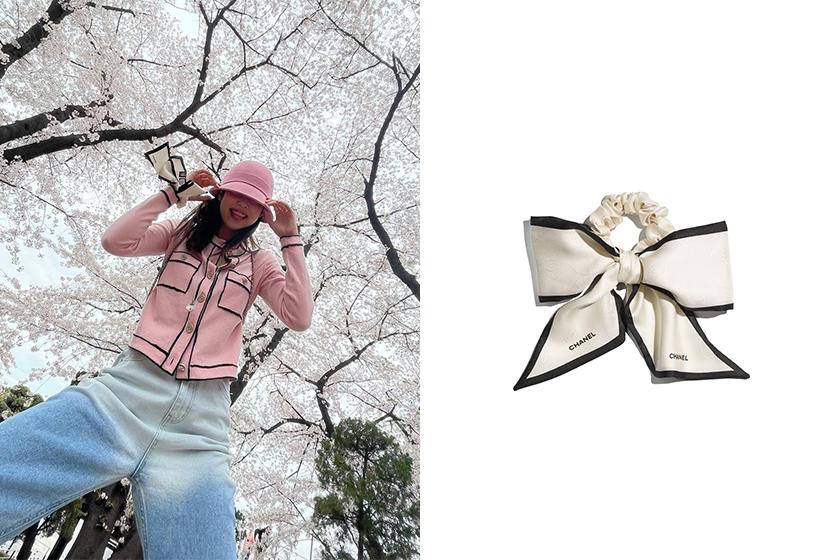 Jennie G-Dragon Chanel Silk Twill Hair Accessory