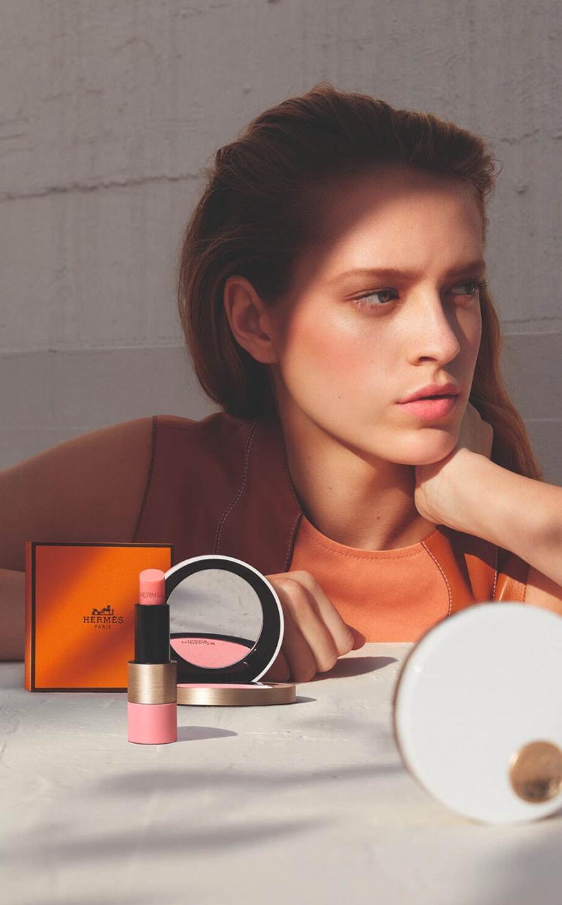 Rose Hermes Silky Blush Lipstick