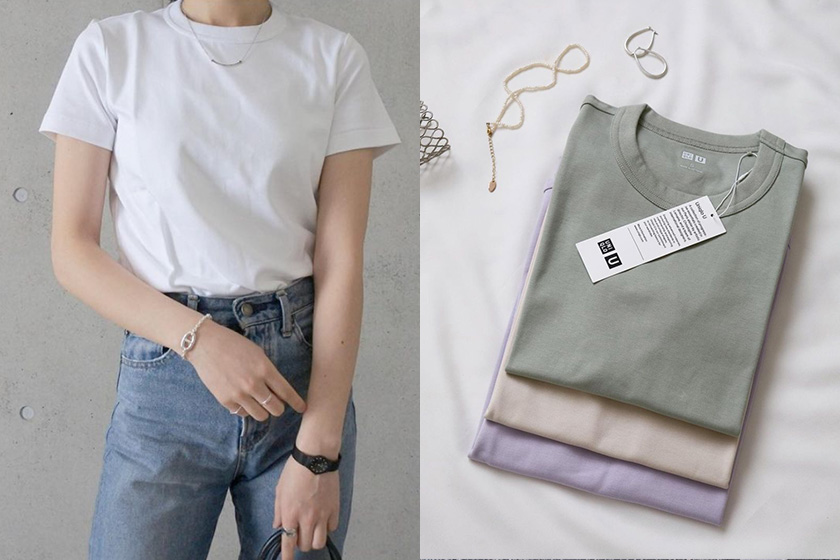 Uniqlo u t-shirt 2021ss japanese girl fashion blogger