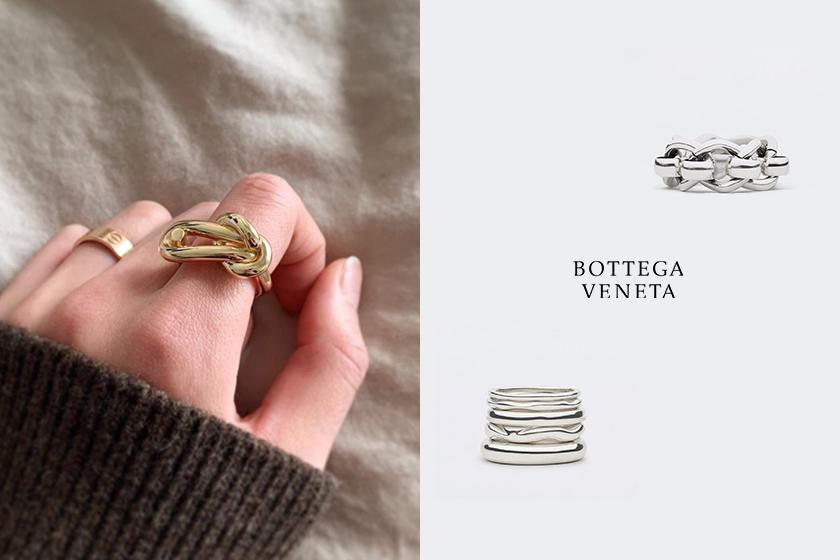 Bottega Veneta silver rings accessories