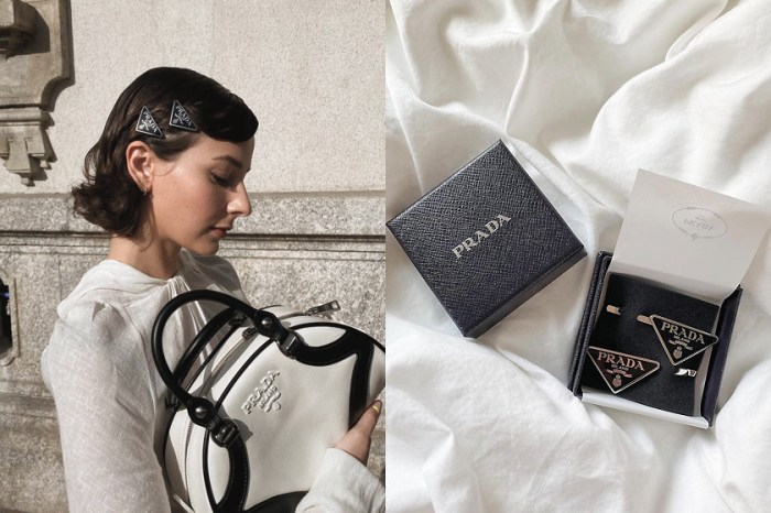 Prada 金屬髮夾和法式髮圈,時髦小資女生收進化妝包!