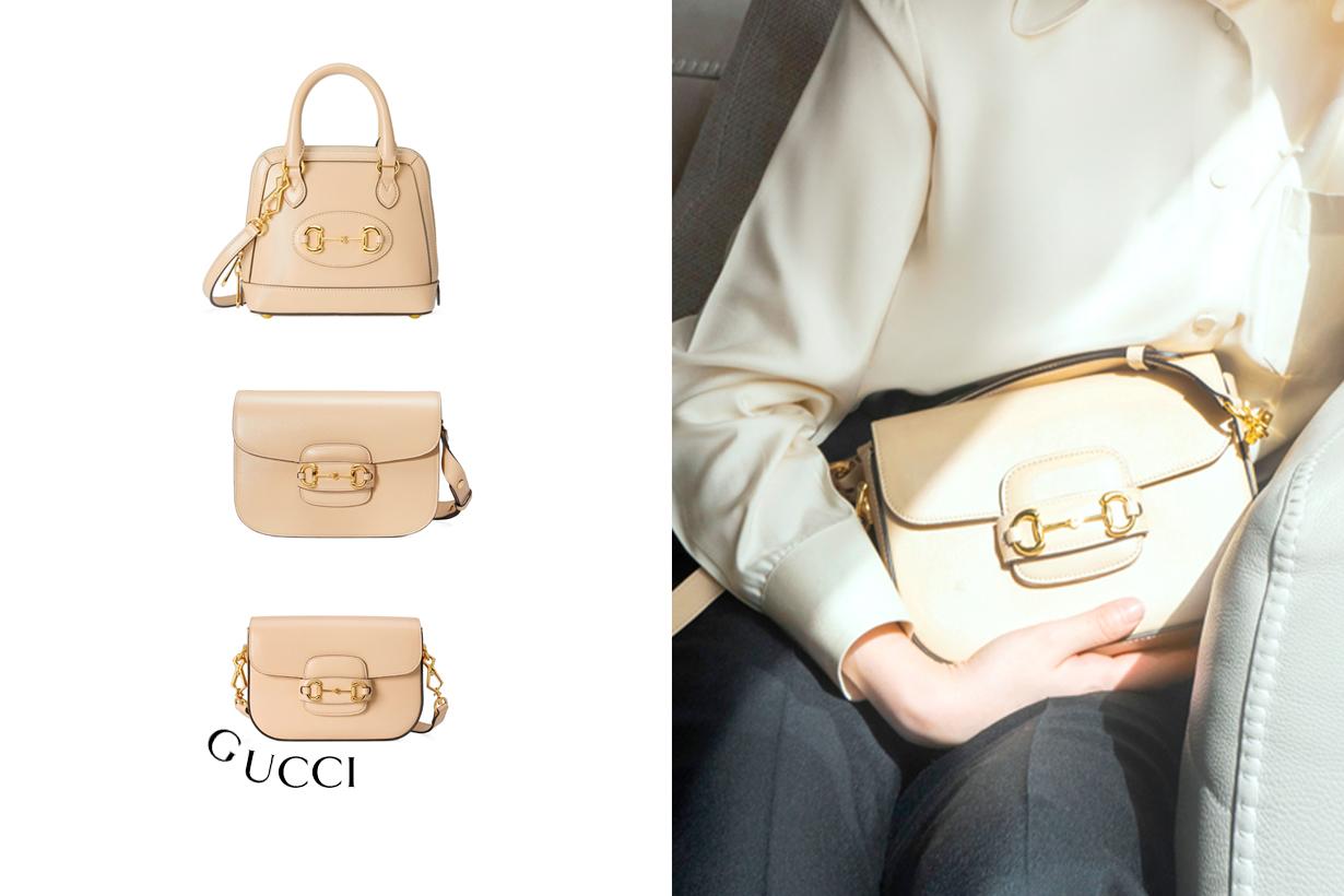 gucci horsebit 1955 new color milk tea 2021 ss mini handbags
