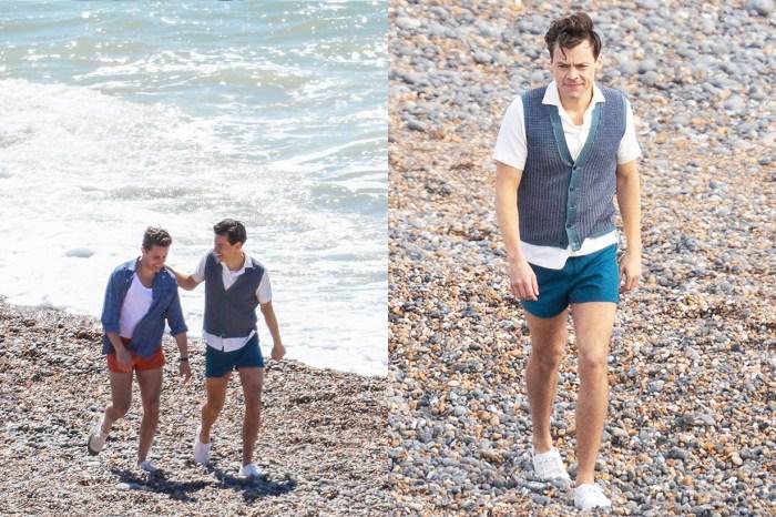 Harry Styles 新同志電影《My Policeman》拍攝現場曝光!網民:天啊,有什麼造型是他駕馭不到?