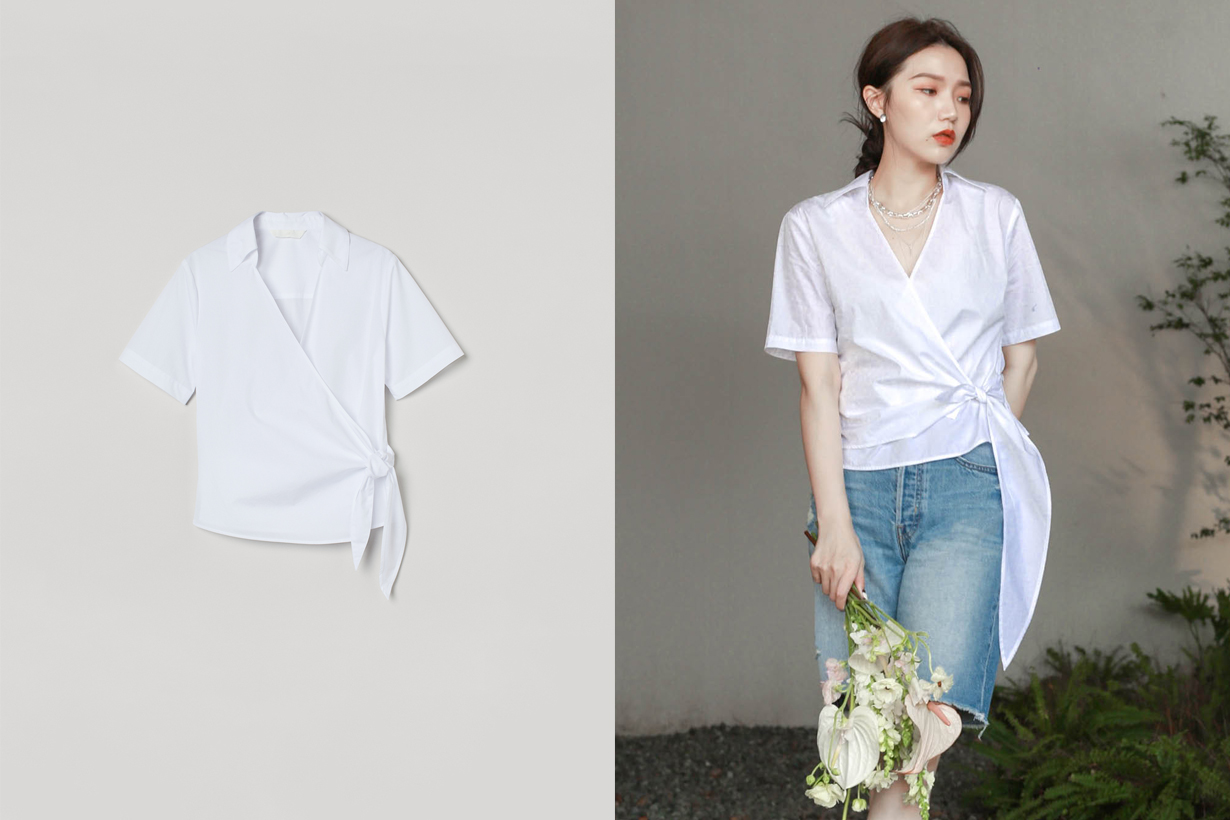 h&m summer shirts styling tie 2021