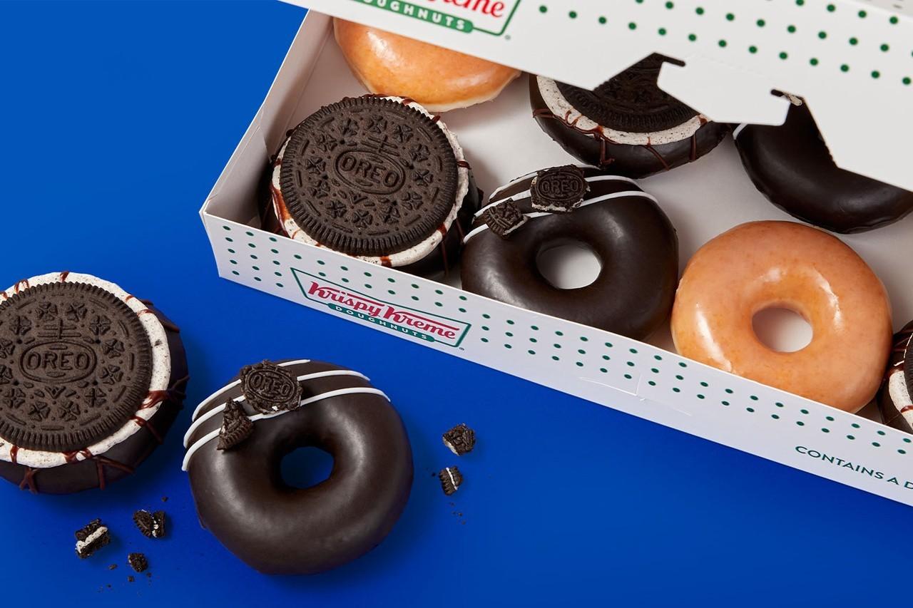 Krispy Kreme x Oreo Cookie Glazed Donut