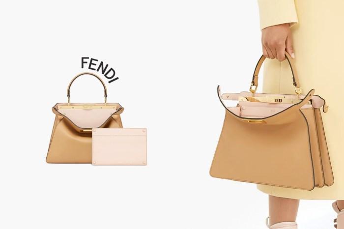 Fendi Peekaboo 手袋瞄準它:藏了可拆卸小口袋,還能客製化字母燙金!