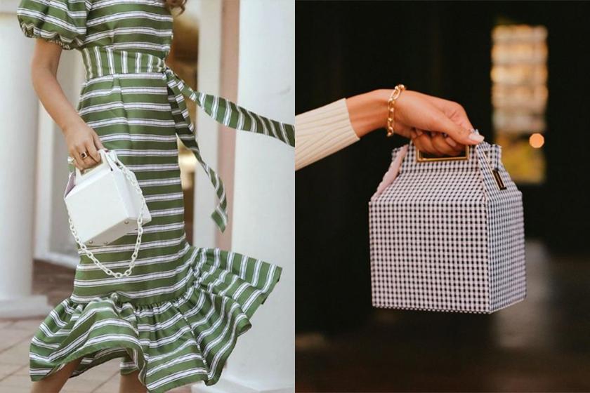 Pop & Suki Takeout Bag statement bag indie brand instagram hit
