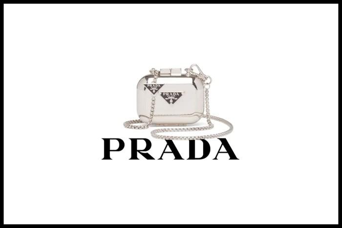 AirPods Case 也可以兩用?Prada 這一款金屬殼時髦得很可以!