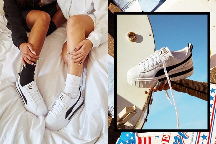 百搭黑白設計 + 顯腿長厚底:PUMA 新推這雙就是女生今季必搶的人氣波鞋!