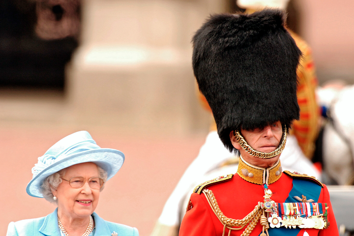 Prince Philip Queen Elizabeth II Trooping of the Queens Colour  Grenadier Guards Bees British Royal family