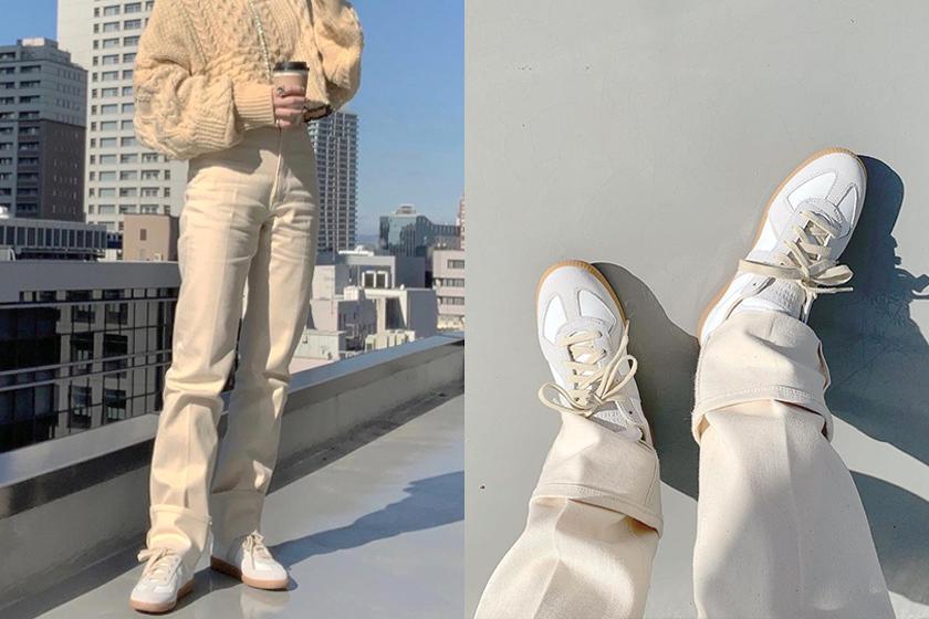 Maison Margiela Replica calfskin sneakers