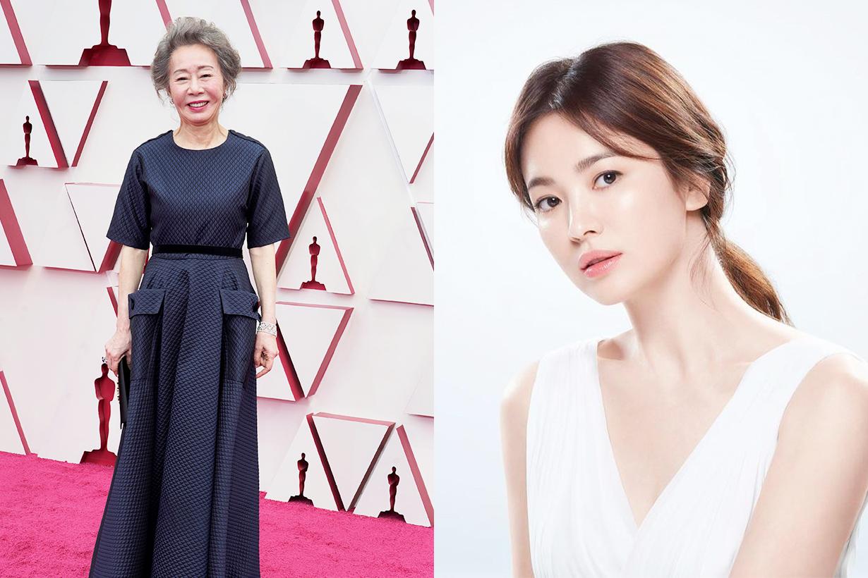 Youn Yuh Jung Song Hye Kyo Oscars 2021 Best Supporting Actress Minari Korean idols celebrities actresses Celebrities Friends