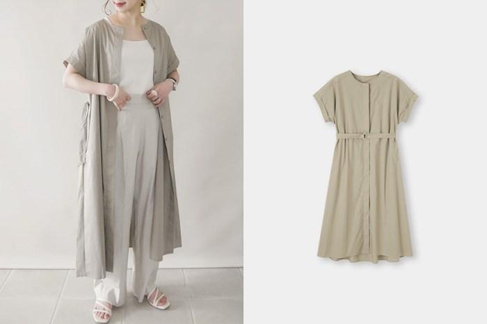 店員也收入私服穿搭:GU 這件氣質滿分的開襟連身裙,還可以有三種穿法!