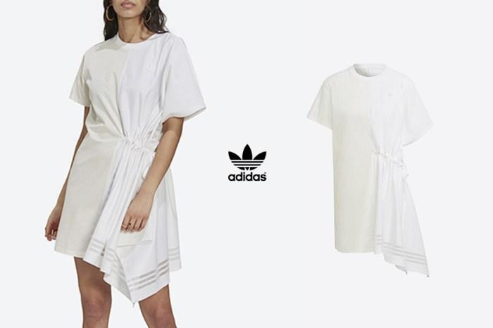 初夏穿搭就差這一件!adidas Originals 不對稱抽繩洋裝,時髦女生搶著入手!
