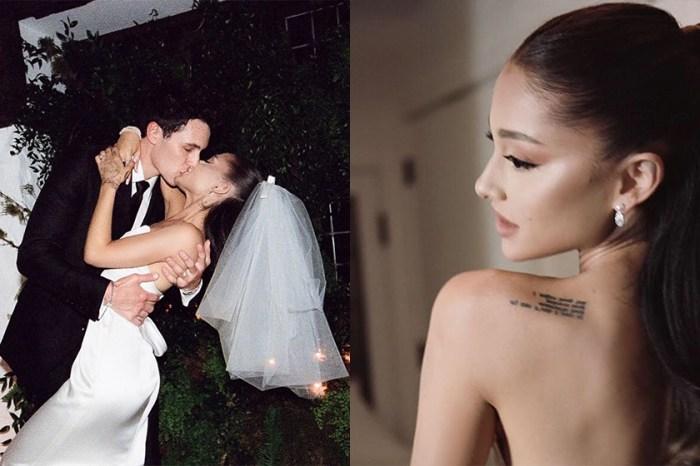 溫馨浪漫的居家婚禮:Ariana Grande 洗練的白色婚紗是所有女生的完美範本!