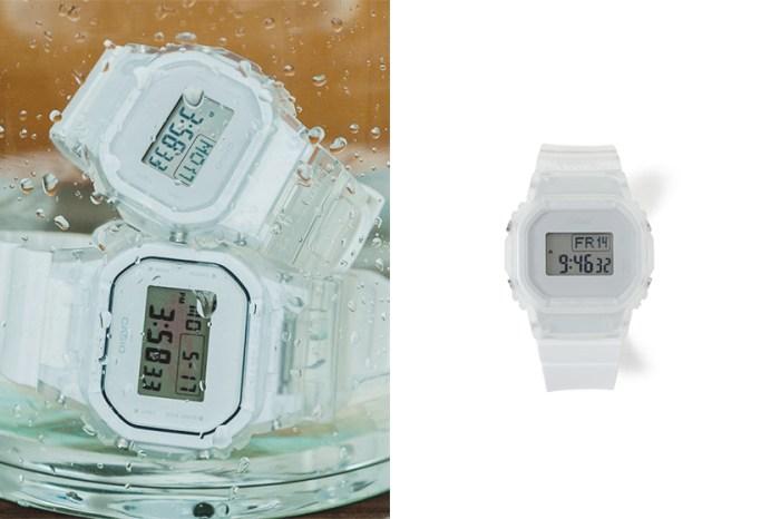 人氣連乘再度登場!日本女生都在關注 BEAMS x G-Shock 的極簡透明手錶!