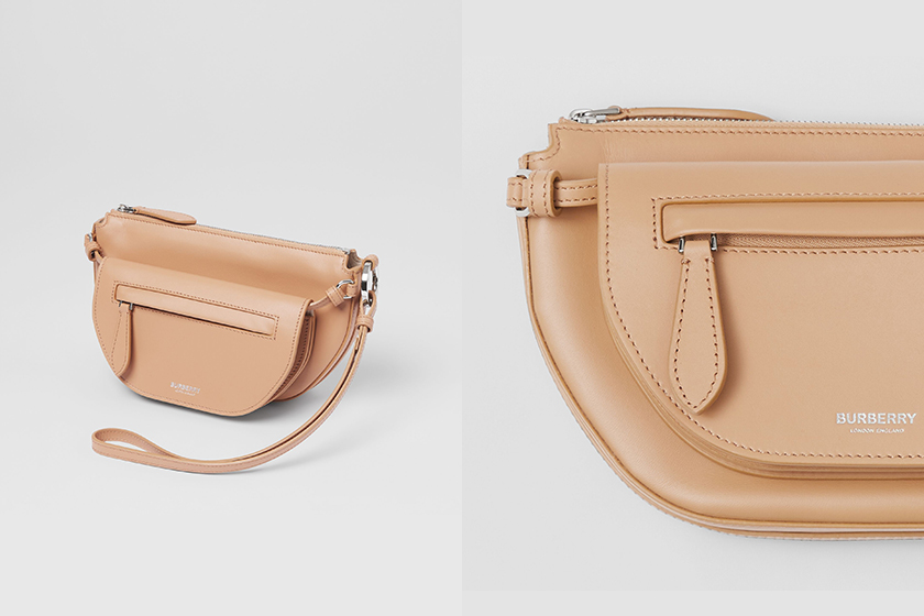 Burberry Mini Leather Double Olympia Bag 2021 summer
