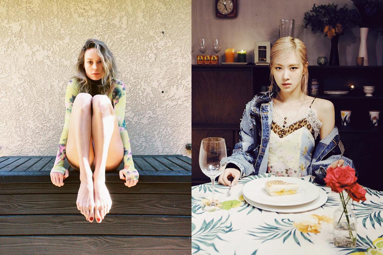 Brie Larson BLACKPINK Rosé《On The Ground》solo song Jennie Lisa Jisoo Acoustic version korean idols celebrities singers girl bands