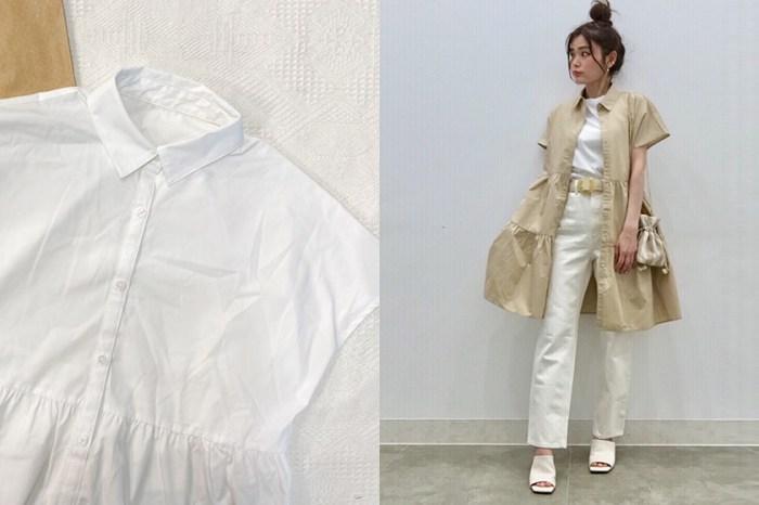 無痛包色:GU 法式襯衫連身裙,一次切換 3 種穿法!