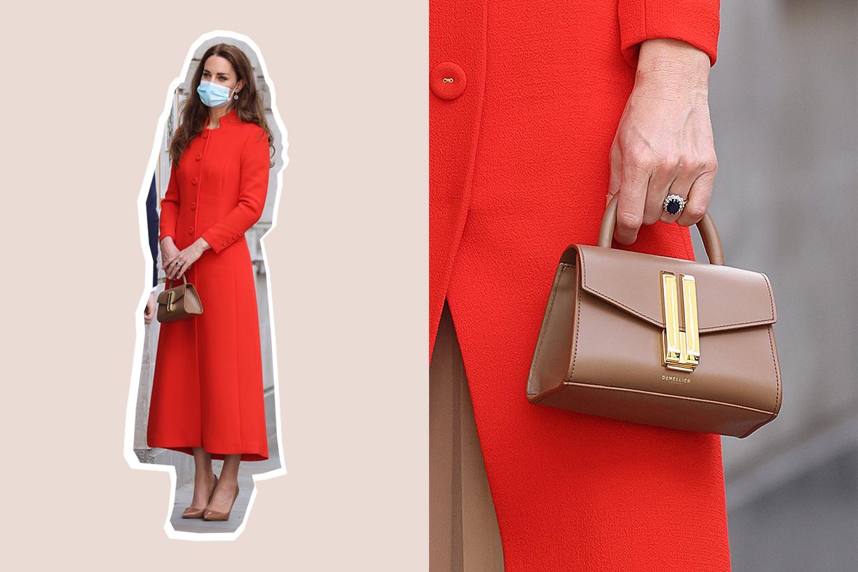 Kate middleton demellier montreal nano handbag hold still selling fast