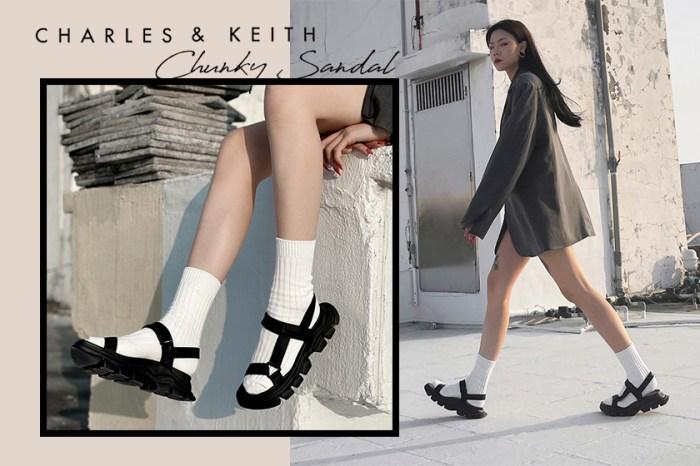 一雙鞋就能變換不同風格,這雙就是時尚女生力捧的厚底涼鞋!