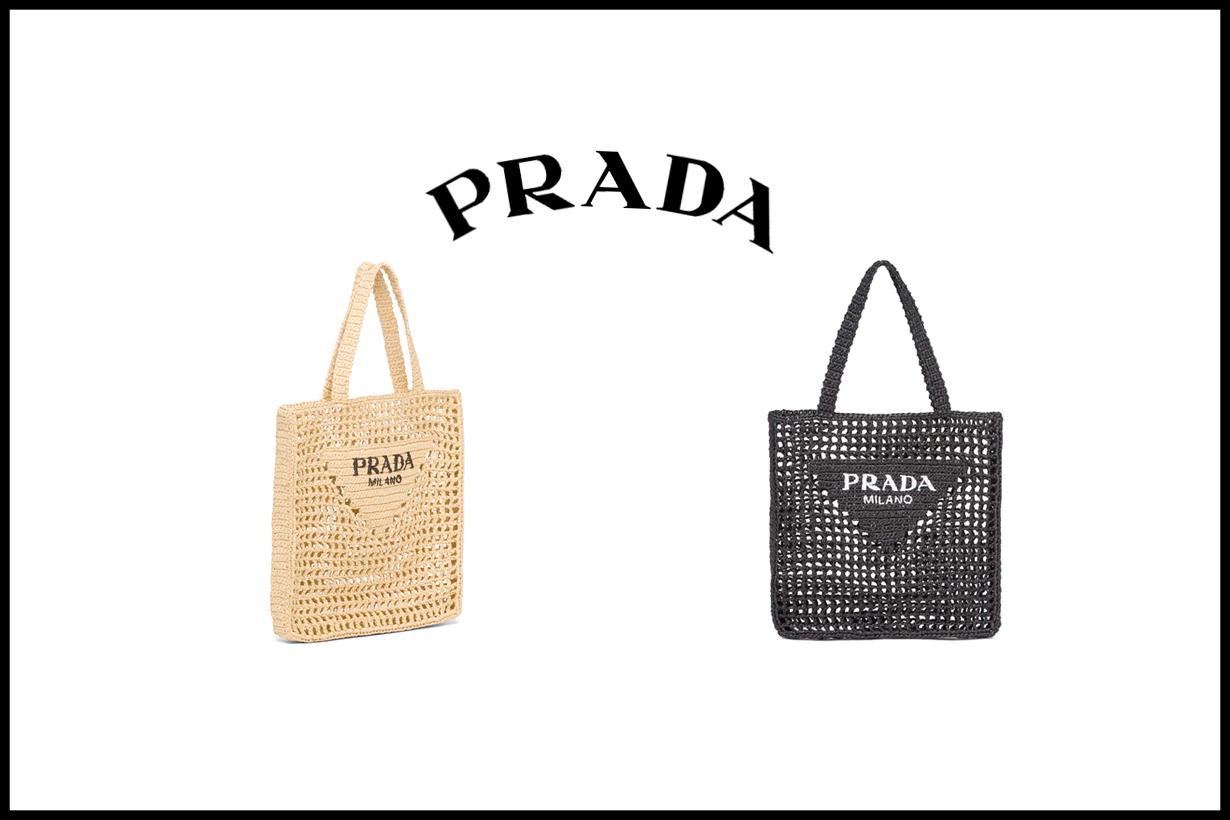 prada raffia handbags 2021 summer