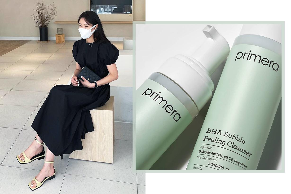 Primera BHA Bubble Peeling Cleanser Acne Pimples Blackheads Blemishes Covid-19 Coronavirus Masks wearing tips Korean Skincare