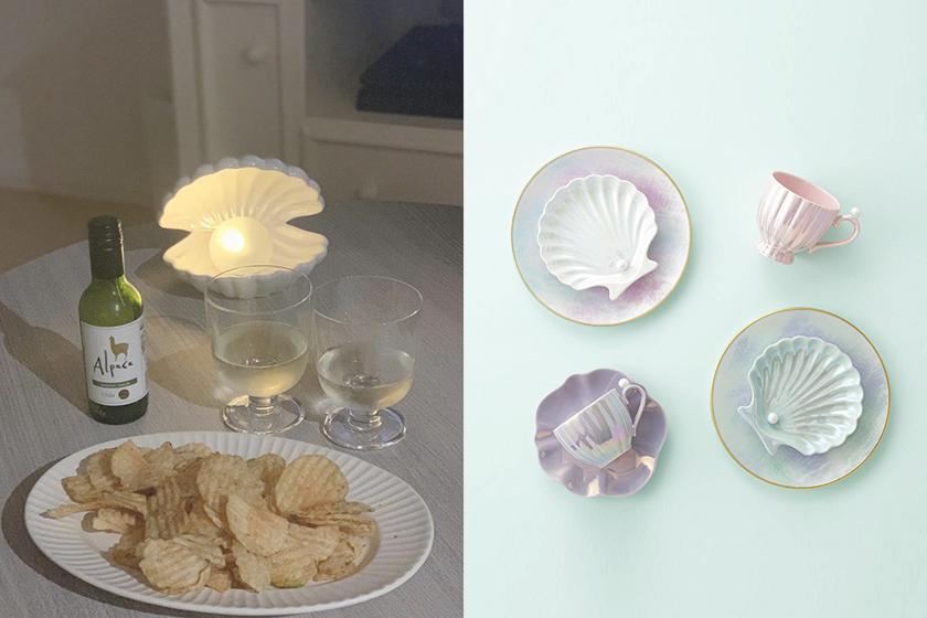 japanese lifestyle Francfranc pearl shell tableware