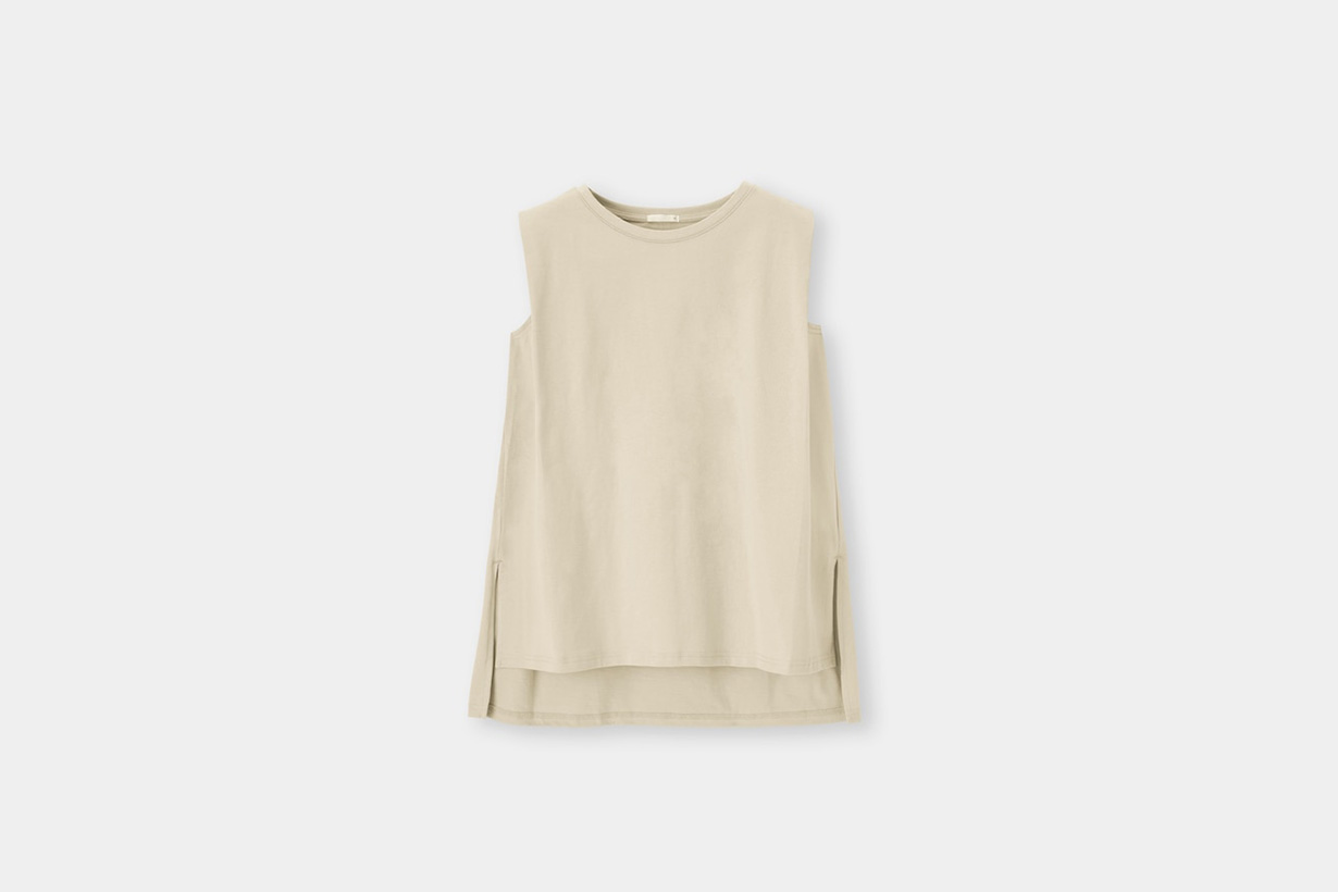 GU Shoulder tuck Top 2021ss