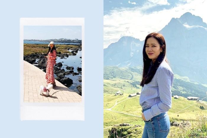孫藝珍貼出與愛犬出遊照,網民:天啊,是男友視角嗎?