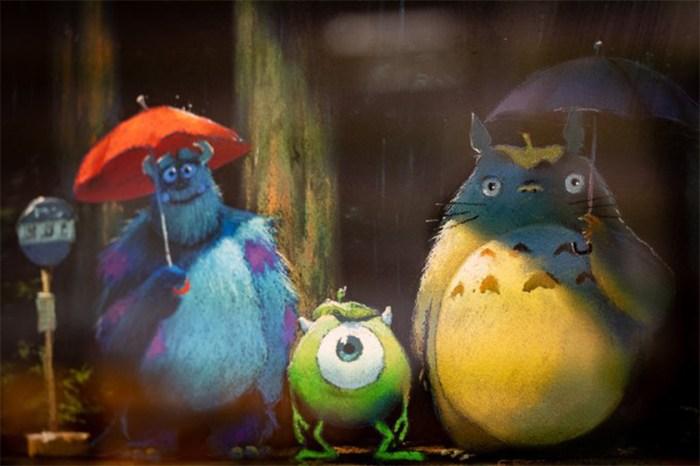 投下震撼彈:吉卜力工作室發佈龍貓跟怪獸公司手繪圖,暗示跟 Pixar 的末來合作?