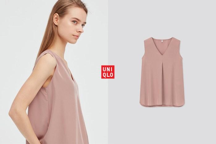 不能遺漏這件:顯瘦領口 + 涼感設計,夏日必備是這件 Uniqlo 無袖襯衫!