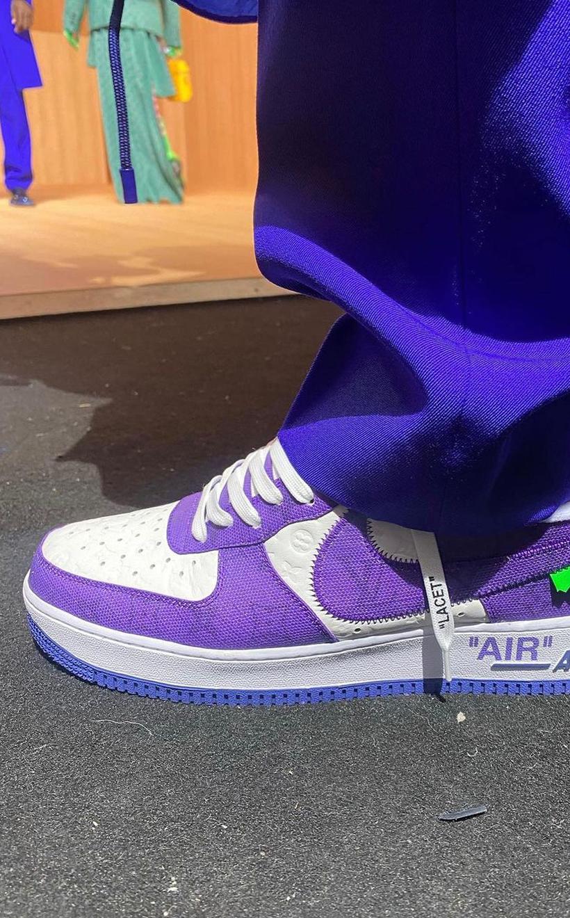 2022 Spring Louis Vuitton x Nike Air Force 1 Virgil Abloh