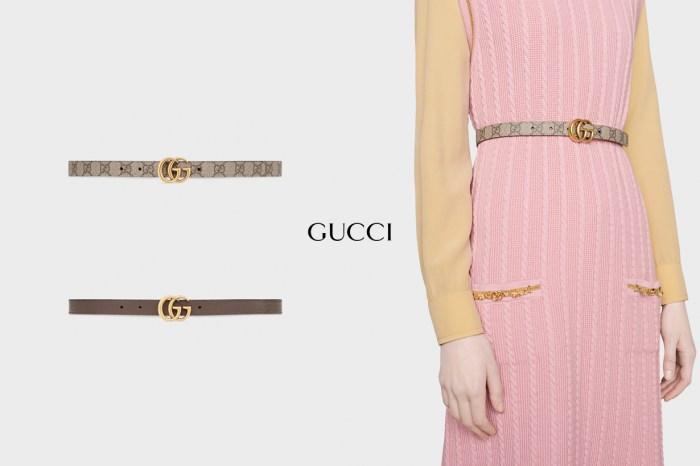 衣櫃常備品:Gucci 兩面繫窄皮帶,CP 值高更是完美穿搭綠葉!