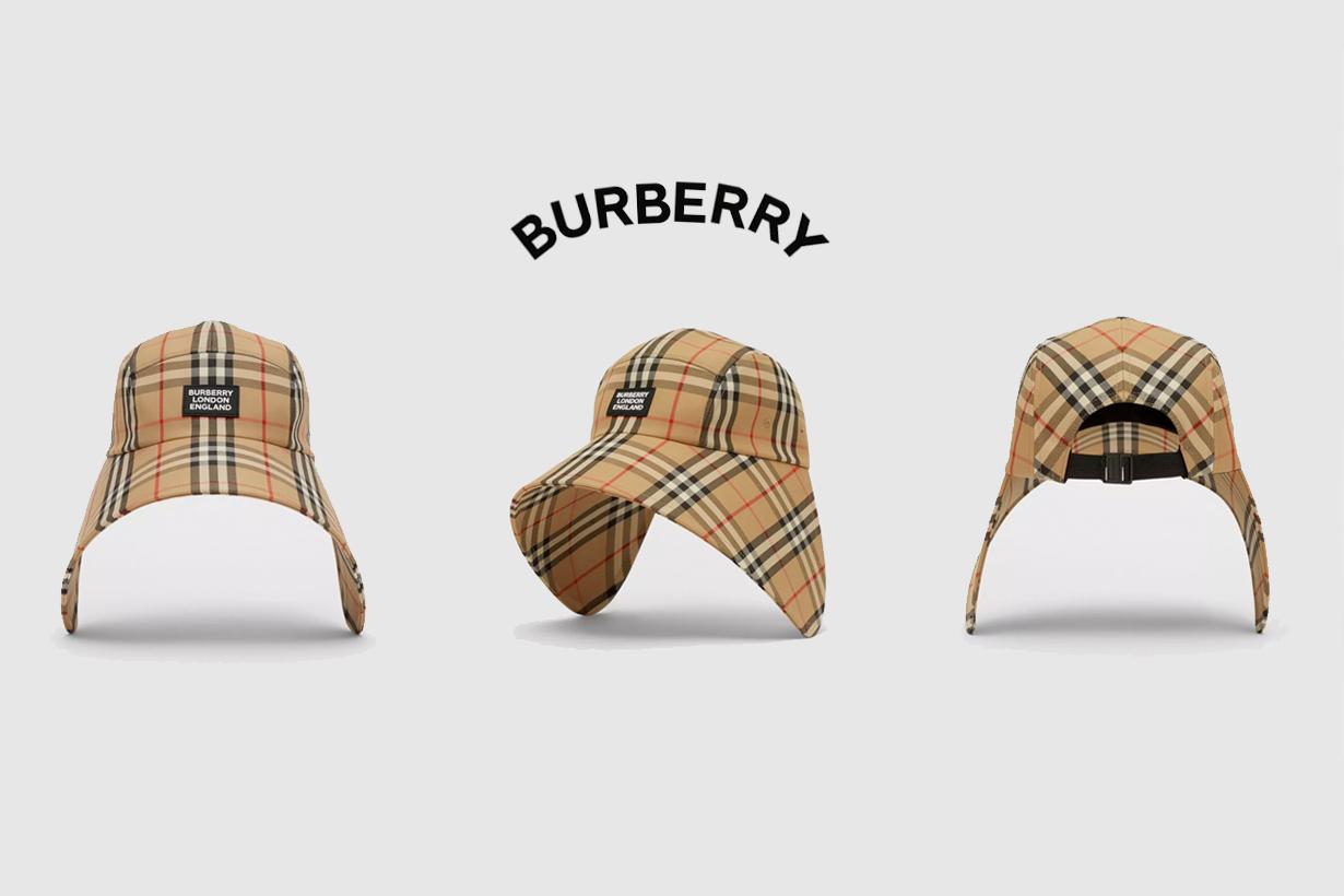 burberry logo bonnet cap 2021