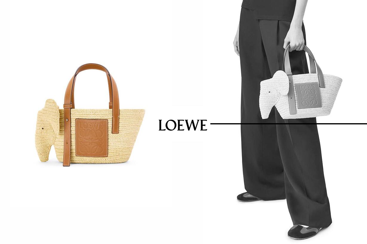 Loewe Elephant basket bag 2021ss handbags