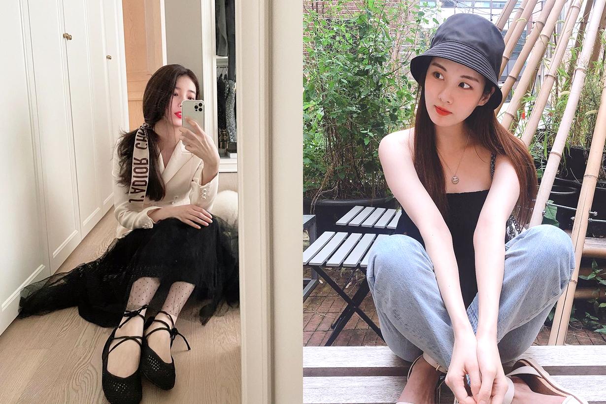 Korean Idols celebrities singers girl bands Lovelyz Mi Ju (G)I-DLE Shu Hua Yoona Seohyun Girls Generation TWICE Nayeon Jihyo Krystal Jung RED VELVET Seulgi Suzy Bae